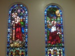 These are the original stained glass windows...they had to get an appraisal...because of Hurricane Ike and they are valued at $1 million....LOCK THE DOORS!